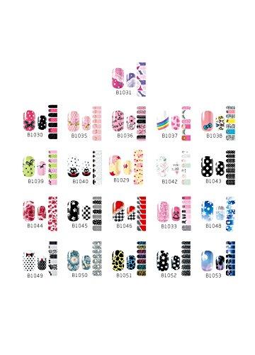 CAOLATOR Nagel-Aufkleber Selbstklebend Nagel Aufkleber Sticker Umweltfreundlich Nagelaufkleber Schöne Nagel Kunst Sticker Praktisch Accessoires Dekoration (Schöner Nagellack)