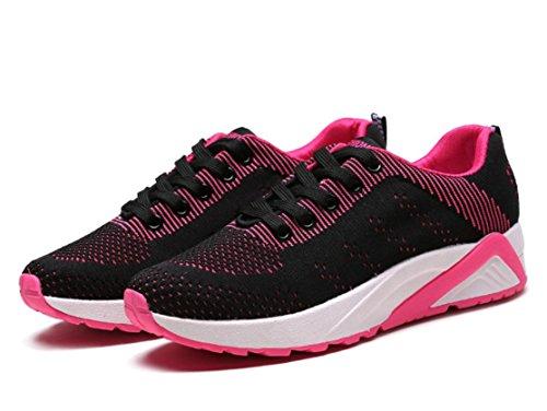 YCMDM Femmes Les Nouvelles Chaussures Étudiants Chaussures Casual Printemps Grosses Chaussures Bottom Black