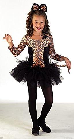 Premium Tiger-Kostüm für Mädchen mit Tiger-Ohren und Tiara | Hochwertiges Karnevals-Kostüm / Faschings-Kostüm / Tigerkostüm | Perfekte Teenager-Verkleidung für Karneval, Fasching, Fastnacht (Größe: (Einfache Katze-kostüme Für Frauen)