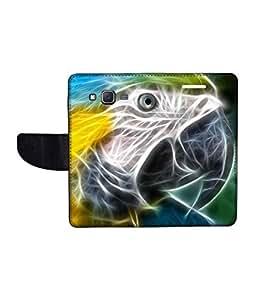 KolorEdge Printed Flip Cover For Samsung Galaxy J7 Multicolor - (1479-55KeMLogo09838SamJ7)