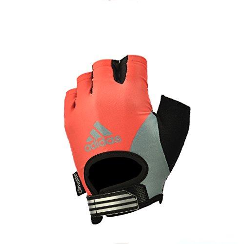 Adidas ADGB-14123RDSR Guantes de Fitness, Rojo, L