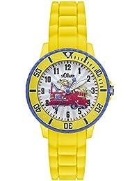 s.Oliver Jungen-Armbanduhr Analog Quarz Silikon SO-2982-PQ