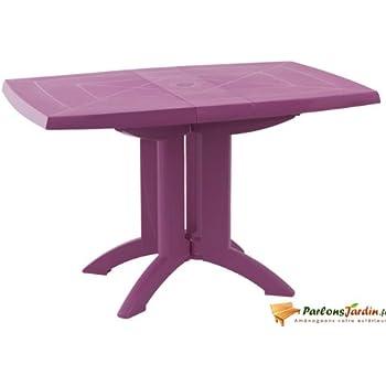 Table de jardin pliante en résine Vega fuchsia