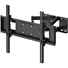 1home TV supporto mensola con doppio braccio inclinare girare installare sulla parete per LED LCD plasma schermo piatto da 30 a 70 pollici