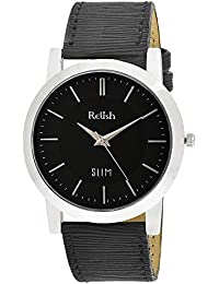 RELISH RE-S8022SB SLIM Black Dial Analog Watch For Mens & Boys