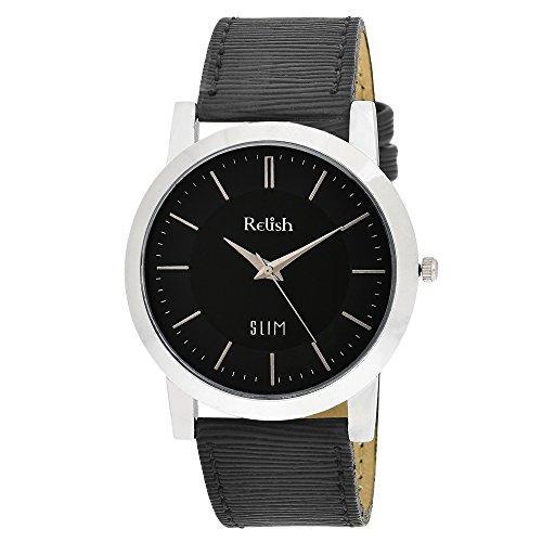 RELISH RE-S8022SB SLIM Black Dial Analog Watch For Mens & Boys
