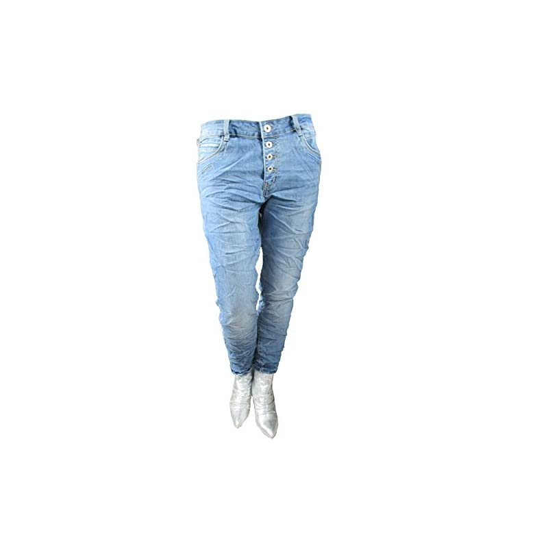 Karostar Jeans – Zip Denim Stretch Baggy-Jeans
