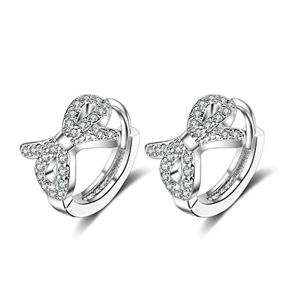 Damen-Schmuck Paar Ohr-Ringe Schwarz Silber Frau Geschenk zu Weihnachten