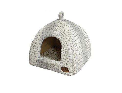 """Nobby Höhle \""""ALANIS\"""" leopard grau L x B x H: 40 x 40 x 35 cm"""