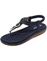 58e65cac34 HAINE Damen Sandalen, Frauen Sommer Bohemia Sandals, Beach Elastische Schuhe  in Größe 34-