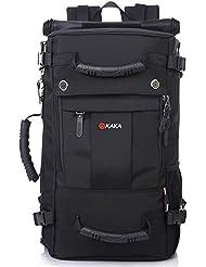 KAKA 35L Professionelle Erwachsene Trekkingrucksack Wanderrucksack Reiserucksack für Outdoor Reisen Camping Bergsteigern Schultertaschen Umhängetasche Schwarz #2050
