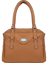 Element Cart Brown Pu Handbag For Women (Element_Bag-6)
