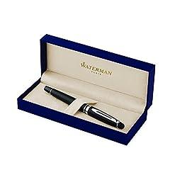 Idea Regalo - Waterman Expert penna roller nera opaca con finiture cromate, confezione regalo