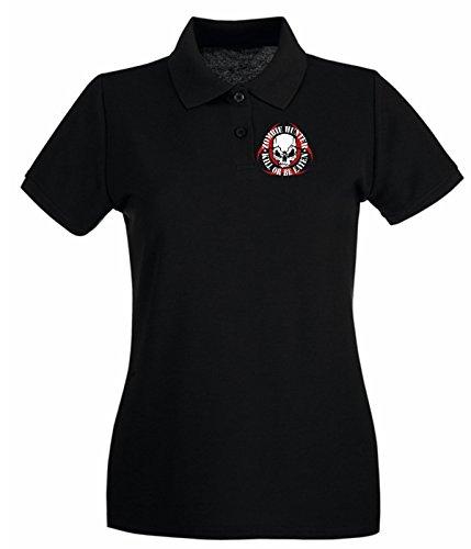 T-Shirtshock - Polo pour femme TZOM0052 zombie Noir