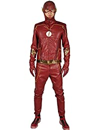 Xcoser Herren Cosplay Kostüm Season 4 Outfit Anzug Leder Jacke mit Gürtel Merchandise für Erwachsene Verrücktes Kleidung