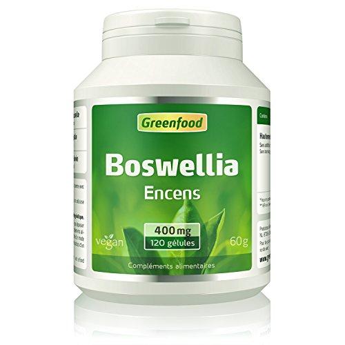 Greenfood - Boswellia (encens), 400mg, hautement dosé - 120 gélules, sans additifs artificiels, sans technologie génétique, végétarien, vegan