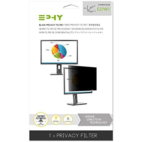 EPHY Privacy Filter / Anti-Glare / Screen Protector for Laptop TFT Monitor Desktop PC LCD LED Screen - Compatible with Apple iMac Macbook DELL SAMSUNG ACER V7 3M IBM LENOVO HP COMPAQ AOC ACER ASUS SHARP LG NEC (27