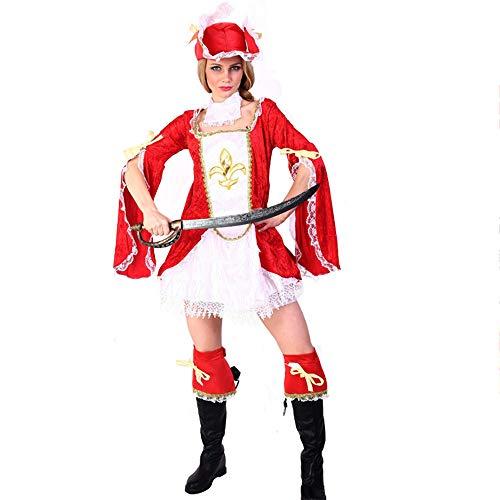 Pirate Kostüm Fee - Halloween Kostüm Halloween-Kostüm - Polyester, Adult Caribbean Female Pirate Kostüm, geeignet für Feiertagsauftritte, COS Parties, Halloween - eine Vielzahl von Stilen zur Auswahl.