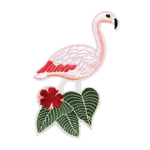 CAOLATOR Flamingo Aufnäher Patch Sticker Vogel Aufkleber Nadelarbeiten Klein Aufbügeln DIY Kleidung Applikation Patches Flicken für T-Shirt Jeans Taschen Schuhe Hüte Size 9.7 * 14.5cm (#5) -