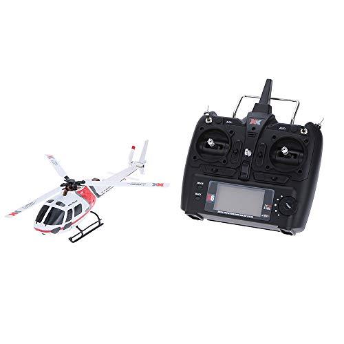 Gxscy XK AS350 K123 6CH 3D 6G système de contrôle à Distance Jouet Moteur Brushless RC Helicopter Transmetteur Compatible Cadeau approprié for Les débutants en Particulier