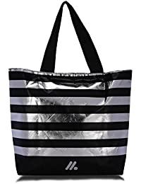 A&A Striped Light Weight Tote Bag