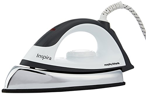 Morphy Richards Inspira 1000-Watt Dry Iron (White and Black)