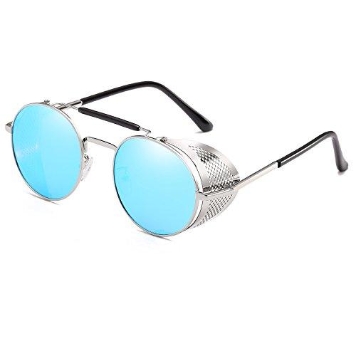 d4f6c344106 CVOO Gothic Steam Punk Sunglasses Mens Fashion Retro Vintage Shield Eyewear  Shades