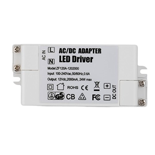 Conducteur de transformateur CA/CC 12V 2A 24W de haute performance pour les bandes d'ampoule de MR16 MR11 GU5.3 LED utilisation de ménage