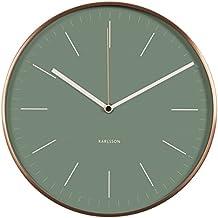 Karlsson Minimal Orologio da Muro, Metallo, Verde Giungla