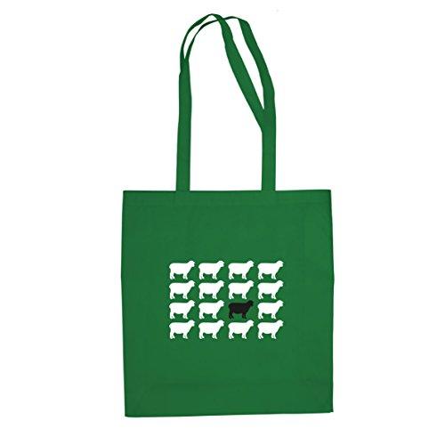 Schwarzes Schaf - Stofftasche / Beutel, Farbe: (Schaf Grüne Kostüm)