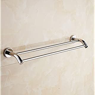 Aothpher Wall Mounted 304 Stainless Steel Double Bathroom Towel Bar,Chrome Finished 50cm