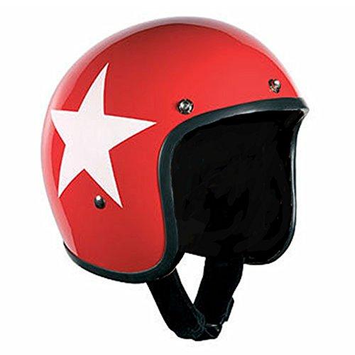Bandit Star Red Jet - Casco con fodera nera, leggero e comodo