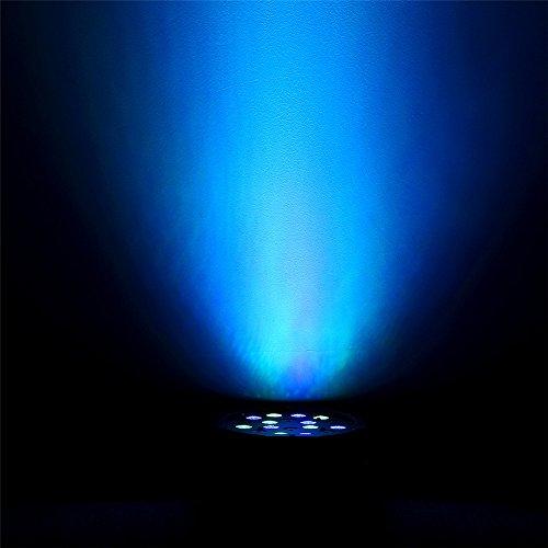 LED Partylicht SOLMORE 18W 18LED LED PAR Licht Bühnelicht DJ Strahler Bühnenbeleuchtung mit Fernbedienung Steuerung (Sound / Auto / DMX512 / Master-Slave- Modus) für KTV Disco Musik Party Show Bar