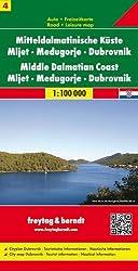 Freytag Berndt Autokarten, Mitteldalmatinische Küste, Mljet - Medugorje - Dubrovnik - Maßstab 1:100.000