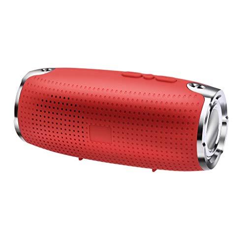 Enceinte Bluetooth Portable Puissante Pas Cher Haut-Parleur Bluetooth sans Fil Portable Son 360° Basses Puissantes, Carte SD Support pour Camping l'extérieur