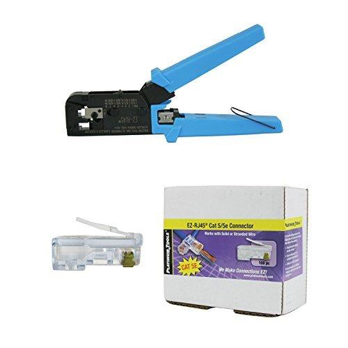 Platinum Tools 100004C EZ-RJ45 Crimper Tool, EZ-RJ45 Cat 5/5e 100 Connectors by Platinum Tools - Ez Crimpers