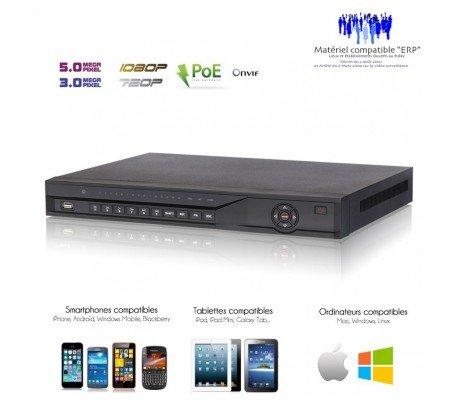 Kameras Überwachung IP-Recorder NVR 16Kanäle 5MP mit 8Ports PoE-nvr-ip-12 (Port Nvr 8)
