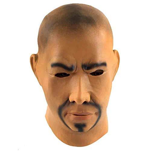 Promi Kostüm Familien - Xgsco Bald Man Mask, Halloween Horror Latex Haube Promi spielt Gesichtsmaske Maskerade Party Cosplay Kostüm Maske für Männer Frauen