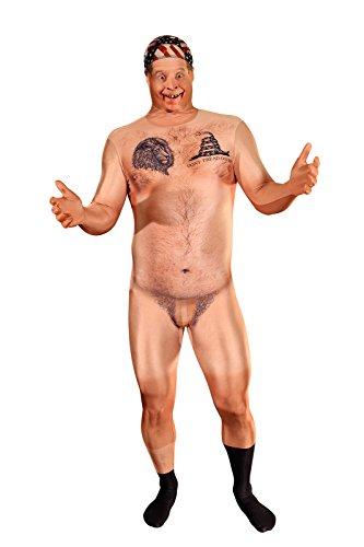 Morphsuits MLFRCHL - Realistische Zensiert Nackt HillBilly Morphsuit Erwachsene Kostüme Large 5 Zoll 4 - 5 Zoll  9, 165 cm - 180 cm, L, (Mann Anzug Nackt)