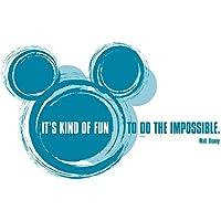 Mikey Mouse it's kind of fun - Disney Deco 50 x 70 cm - adesivi 2 teilig. Beige dà è una istruzioni di fissaggio.