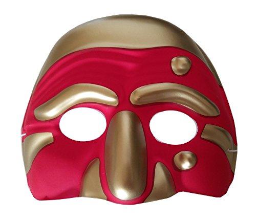 Inception pro infinite maschera per costume - travestimento - carnevale - halloween - teatro - classica - arte veneziana - napoletana - colore rosso - adulti - unisex - donna - uomo - ragazzi