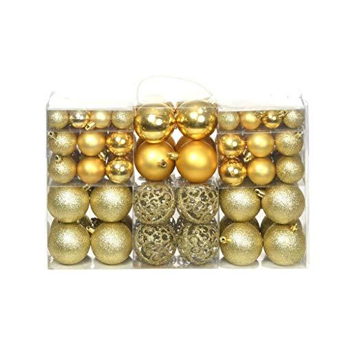 Festnig Set Palline di Natale 100 pz 6/4/3 cm Colole Opzionale