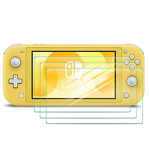 Luibor Displayschutzfolie für Nintendo Switch Lite,Gehärtetem Glas Schutzfolie für Switch Lite,Schützt das Display vor Kratzern,Leicht Anzubringen (3 Stück) Da-lite-switch