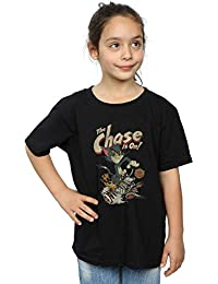 a0de3da2c Absolute Cult Tom and Jerry Niñas The Chase Is On Camiseta