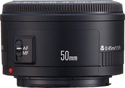 Canon EF 50mm f/1.8 II   Objetivo para Canon (distancia focal fija 50mm, apertura f/1.8 22, diámetro: 52mm), negro