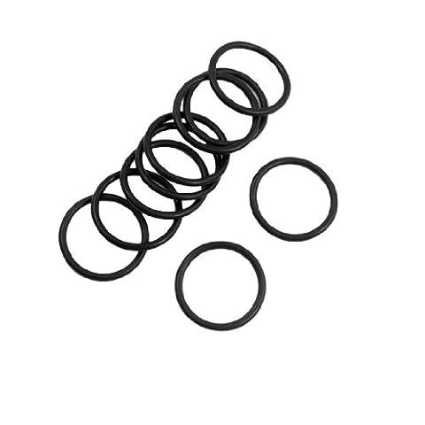 10 Pcs 22mm x 2mm Flexible Filter Rubber O Ring Seal Black