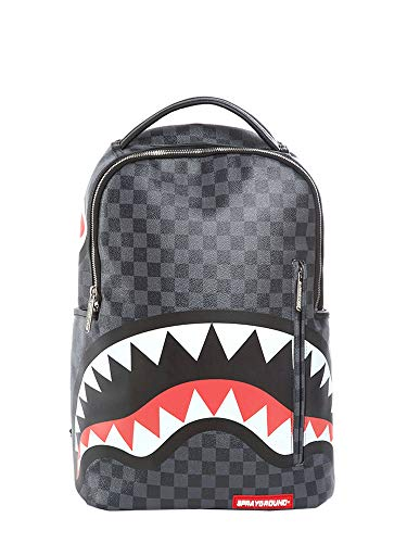 Sprayground Sharks In Paris (Grey Checkered) Rucksack -