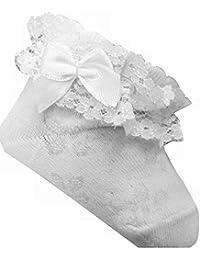 Baby Socken, in Gr. 56/62, 68/74, 80/86, 92/98, Sockchen mit Spitze, Sommersöckchen, Taufesocken, Mädchensocken,