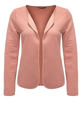 V-neck Cardigan Jacke (Only Damen Cardigan Strickjacke Feinstrick V-Neck (Rose Dawn, XL))