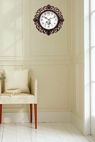 E-DEAL-Attractive-Look-Floral-Design-Analog-Wall-Clock-EDWALCLK07